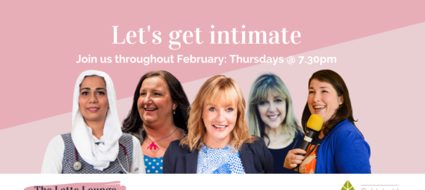 lets get intimate dr nighat arif louise proddow renee denyer caron barruw gusset grippers elaine miller the latte lounge