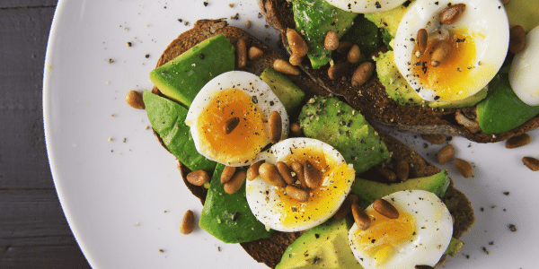 eggs, wholegrains and seeds are good mood food to help with menopause low mood